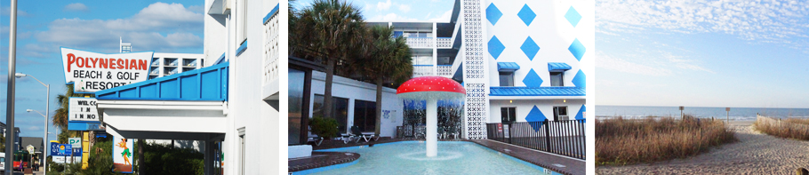 Polynesian Oceanfront Hotel Myrtle Beach South Carolina